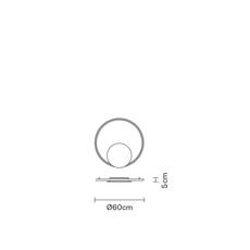 Настенно-потолочный светильник Fabbian OLYMPIC F45 G51/52 with Emergency Kit, фото 3