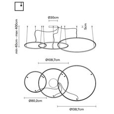 Подвесной светильник Fabbian OLYMPIC F45 A11/12, фото 2