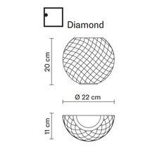 Настенный светильник Fabbian DIAMOND&SWIRL D82 D99 00, фото 2