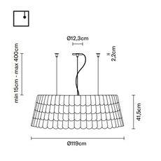 Подвесной светильник Fabbian ROOFER F12 A09, фото 2