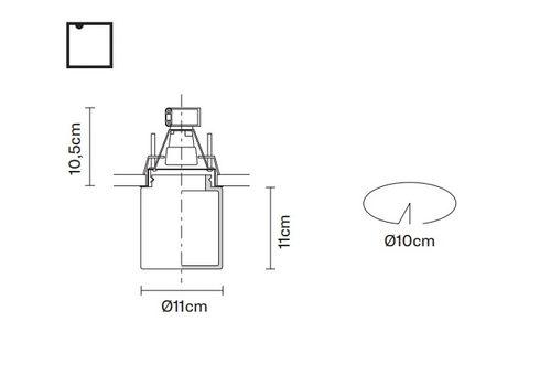 Встраиваемый светильник Fabbian METROPOLE D14 F40/F56, фото 2