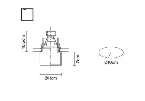 Встраиваемый светильник Fabbian METROPOLE D14 F36/F37/F39/F54, фото 2