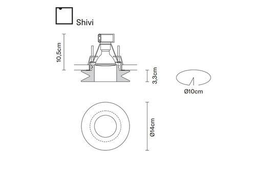Встраиваемый светильник Fabbian FARETTI D27 F01/F02/F31, фото 2
