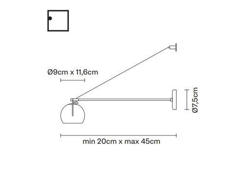 Настенный светильник Fabbian BELUGA COLOUR D57 D03, фото 2