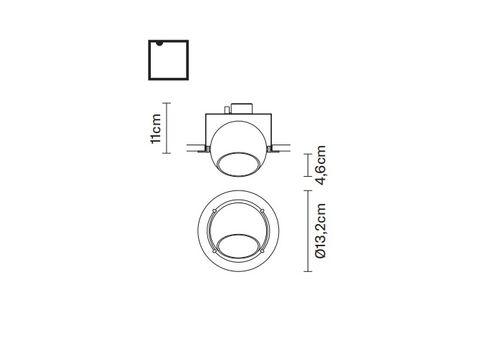 Встраиваемый светильник Fabbian BELUGA COLOUR D57 F01, фото 2