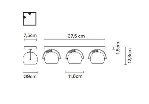 Потолочный светильник Fabbian BELUGA COLOUR D57 G25, фото 2