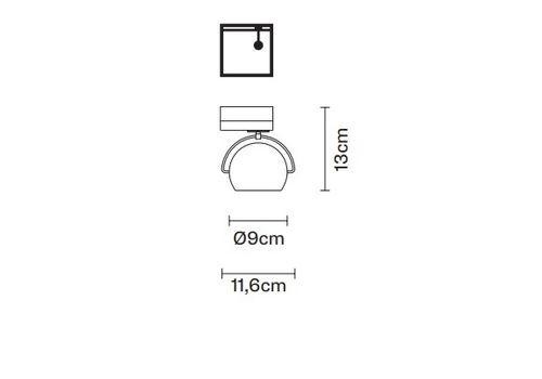 Настенно-потолочный светильник Fabbian BELUGA COLOUR D57 J07, фото 2