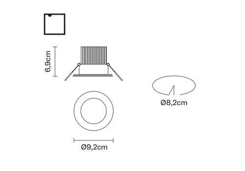 Встраиваемый светильник Fabbian VENUS F40 F01, фото 2