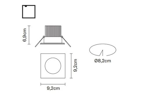 Встраиваемый светильник Fabbian VENUS F40 F03, фото 2