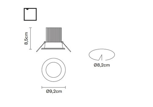 Встраиваемый светильник Fabbian VENUS F40 F09, фото 2