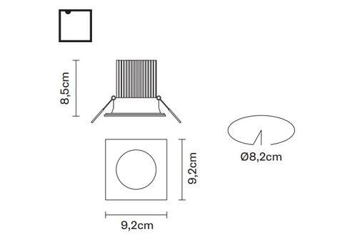 Встраиваемый светильник Fabbian VENUS F40 F11, фото 2