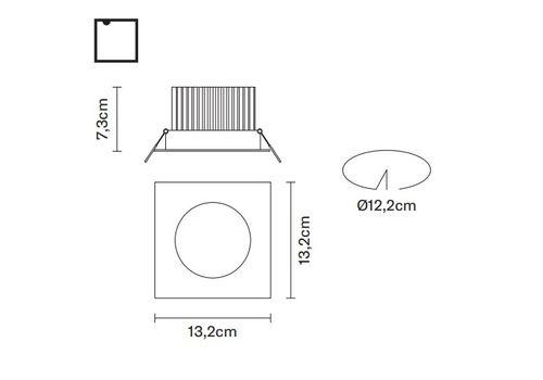 Встраиваемый светильник Fabbian VENUS F40 F19, фото 2