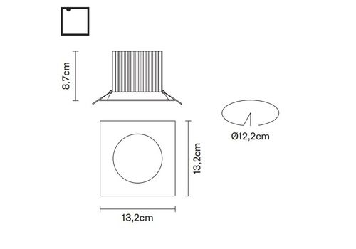Встраиваемый светильник Fabbian VENUS F40 F23, фото 2