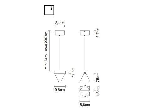 Подвесной светильник Fabbian TRIPLA F41 A01, фото 2