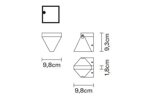 Настенный светильник Fabbian TRIPLA F41 D01, фото 2