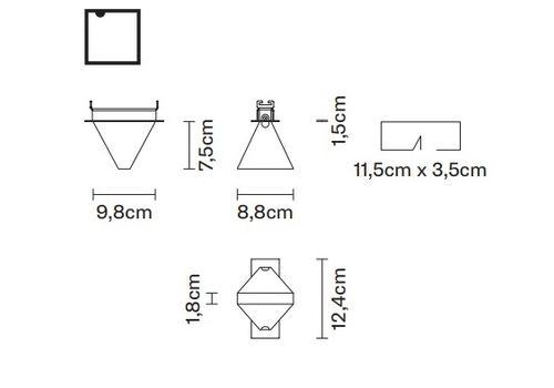 Потолочный светильник Fabbian TRIPLA F41 F01, фото 2
