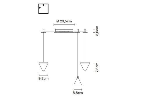 Подвесной светильник Fabbian TRIPLA F41 G01/02, фото 2