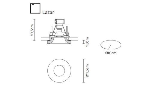 Встраиваемый светильник Fabbian FARETTI D27 F05/06/35, фото 2