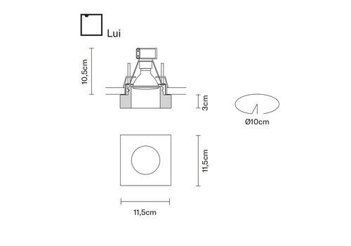 Встраиваемый светильник Fabbian FARETTI D27 F09/10/39, фото 2