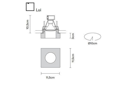 Встраиваемый светильник Fabbian FARETTI D27 F11/12/40, фото 2
