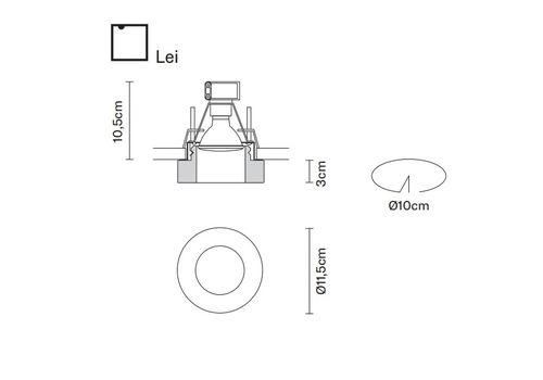 Встраиваемый светильник Fabbian FARETTI D27 F13/14/43, фото 2