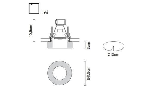 Встраиваемый светильник Fabbian FARETTI D27 F15/16/44, фото 2
