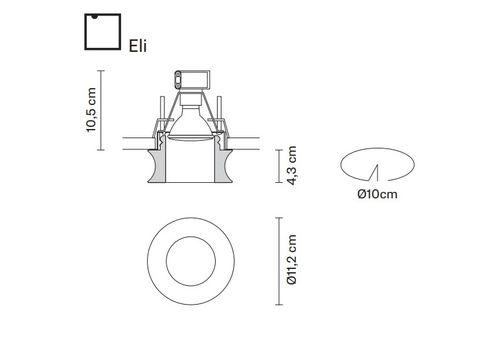 Встраиваемый светильник Fabbian FARETTI D27 F51/52/54, фото 2