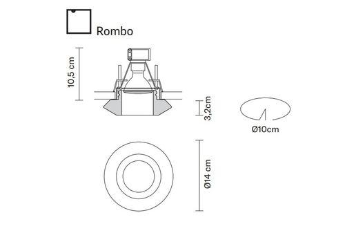 Встраиваемый светильник Fabbian FARETTI D27 F56/57/59, фото 2