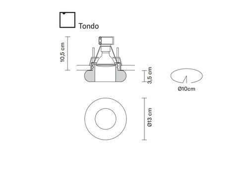 Встраиваемый светильник Fabbian FARETTI D27 F61/62/64, фото 2