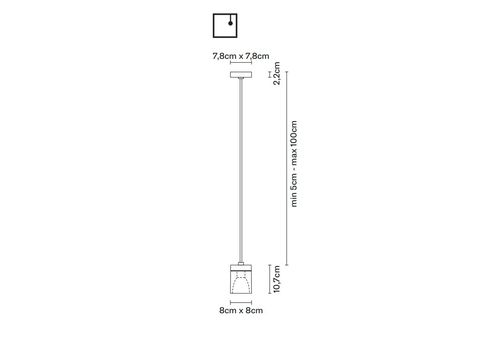 Подвесной светильник Fabbian CUBETTO D28 A01, фото 2