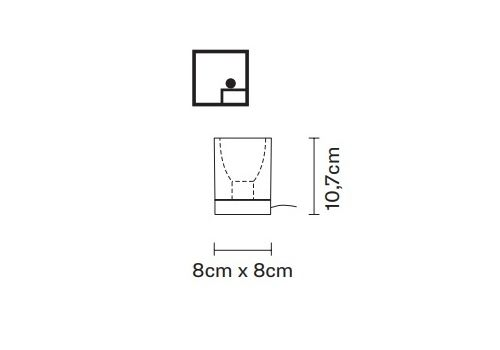 Настольный светильник Fabbian CUBETTO D28 B03, фото 2