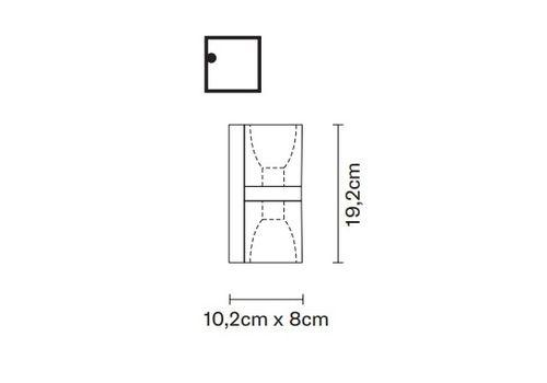 Настенный светильник Fabbian CUBETTO D28 D01, фото 2