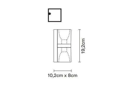 Настенный светильник Fabbian CUBETTO D28 D02, фото 2