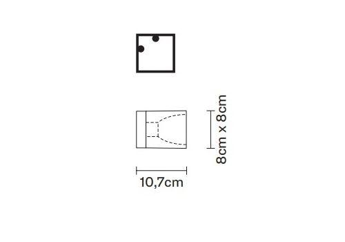 Настенно-потолочный светильник Fabbian CUBETTO D28 G01/G02, фото 2