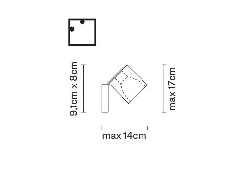 Настенно-потолочный светильник Fabbian CUBETTO D28 G89, фото 2