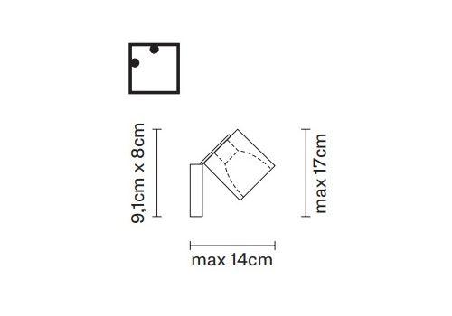 Настенно-потолочный светильник Fabbian CUBETTO D28 G90, фото 2