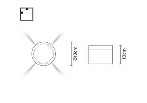 Настенный светильник Fabbian JAZZ D52 G07/G08, фото 2