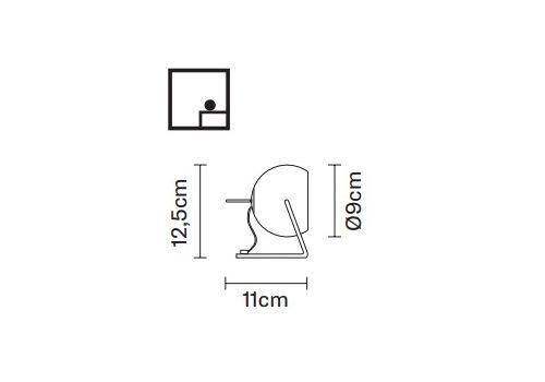 Настольный светильник Fabbian BELUGA WHITE D57 B07 01, фото 2