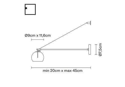 Настольный светильник Fabbian BELUGA STEEL  D57 D05, фото 2