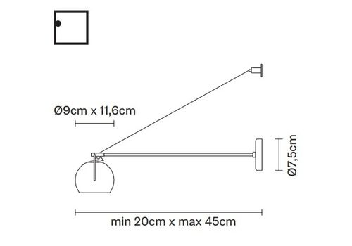 Настенный светильник Fabbian BELUGA WHITE D57 D07, фото 2