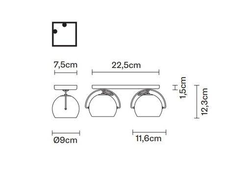 Потолочный светильник Fabbian BELUGA STEEL D57 G11/G19/G21, фото 2