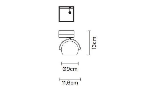 Настенно-потолочный светильник Fabbian BELUGA STEEL  D57 J03, фото 2