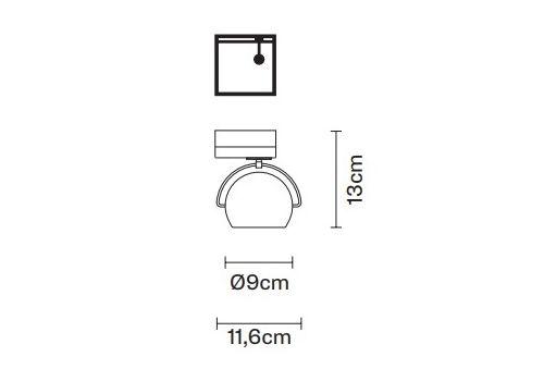 Настенно-потолочный светильник Fabbian BELUGA WHITE D57 J15, фото 2