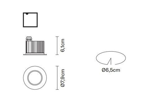 Встраиваемый светильник Fabbian CRICKET D60 F15/F16, фото 2