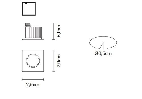 Встраиваемый светильник Fabbian CRICKET D60 F19/F20, фото 2