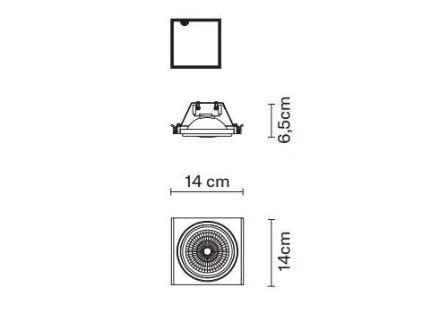 Встраиваемый светильник Fabbian ZEN D67 L26, фото 2
