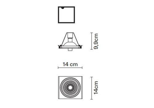 Встраиваемый светильник Fabbian ZEN D67 L34, фото 2