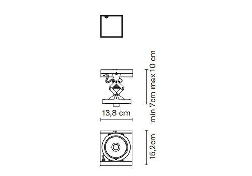 Встраиваемый светильник Fabbian ZEN D67 L38, фото 2