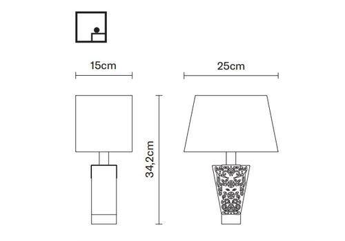 Настольный светильник Fabbian VICKY D69 B03, фото 2