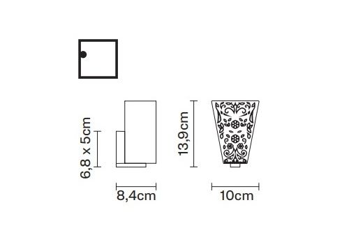 Настенный светильник Fabbian VICKY D69 D01, фото 2